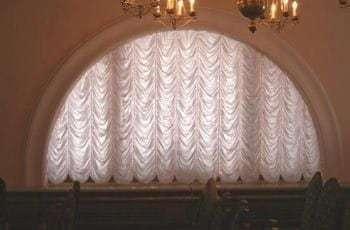 Круглая шторы