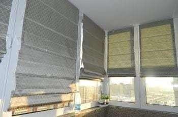 римские шторы в лоджию